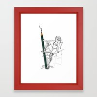 what a big pencil you have Framed Art Print