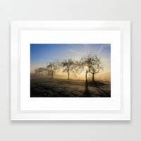 Angel Dusk Framed Art Print