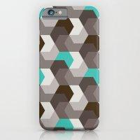 Chocomint Hexagons iPhone 6 Slim Case