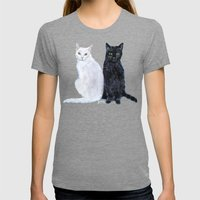 Kingston and Midnight Womens Fitted Tee Tri-Grey SMALL