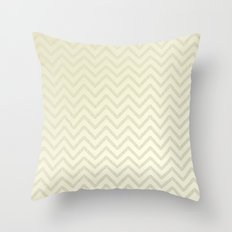 Delicate ivory chevrons Throw Pillow