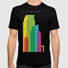 Shapes of Minneapolis SMALL Black Mens Fitted Tee