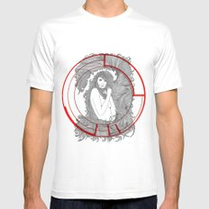 Target Nouveau. Mens Fitted Tee SMALL White