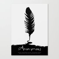 Anonymous - minimal poster Canvas Print