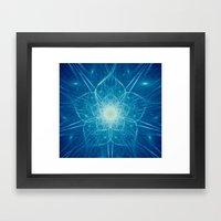 Beautiful Intricate Digital Flower Framed Art Print
