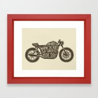 Two wheels move the soul Framed Art Print