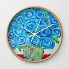 I'm Feeling Blue Wall Clock