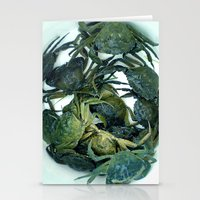 In the crab basket Stationery Cards