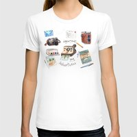 Document Your Adventures Womens Fitted Tee White SMALL