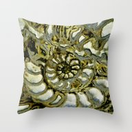 Funky Fossil Throw Pillow