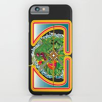 iPhone & iPod Case featuring Classic Centipede Woodcut by Buzatron