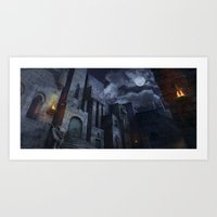 Art Print featuring The Castle by Viggart
