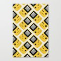 Gameboy Color: Yellow (Pattern) Canvas Print