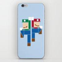Super Bro High Five iPhone & iPod Skin