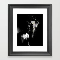 SMOKING BOY Framed Art Print