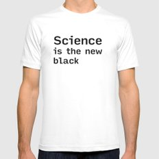 SCIENCE is the new BLACK (shirt) Mens Fitted Tee SMALL White