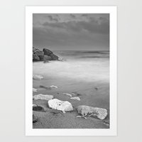 White rock Art Print