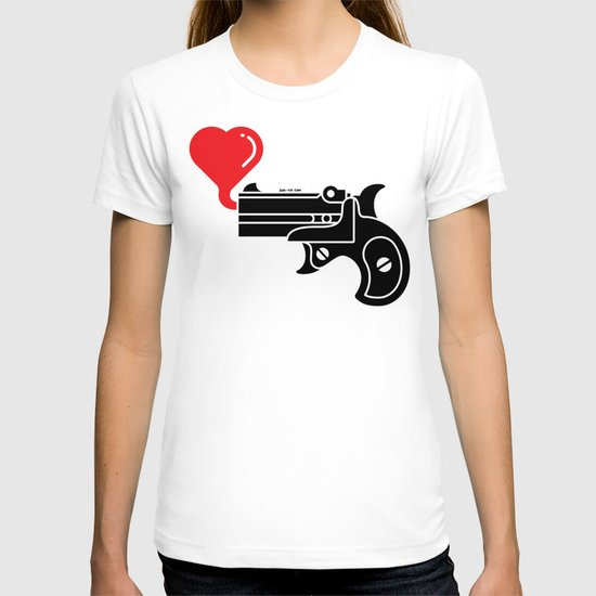 Pistol Blowing Bubbles of Love T-shirt