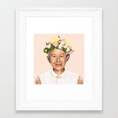 Hipstory - Queen Elizabe… Framed Art Print