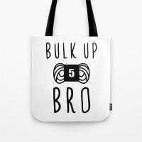 Bulk Up Bro Funny Yarn K… Tote Bag
