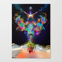 Fractalised Duality Canvas Print