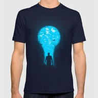 Bright Side Mens Fitted Tee Navy SMALL