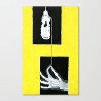 Yellow X-Ray Canvas Print