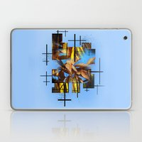 Blades Of Grass And Leaves In The Blue Sky Laptop & iPad Skin