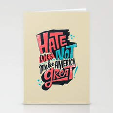 Hate Does Not Make Ameri… Stationery Cards