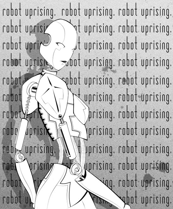 Robot Uprising Canvas Print