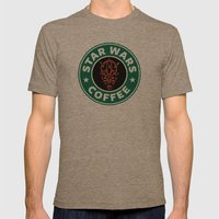 Star Wars Coffee (Darth … Mens Fitted Tee Tri-Coffee SMALL