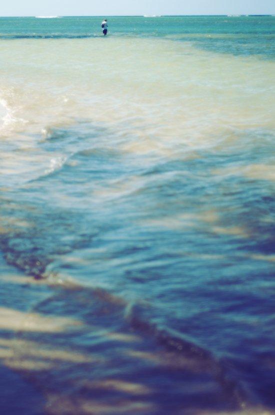 Fisherman in the distance, Mauritius II Art Print