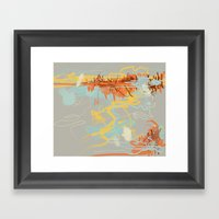 Runoff Patterns Framed Art Print