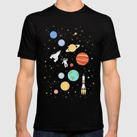 In space Mens Fitted Tee Black SMALL