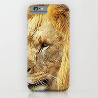 iPhone & iPod Case featuring Thirsty Lion by Christy Leigh