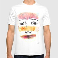 Head Shot #3 Mens Fitted Tee White SMALL
