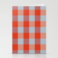 Pixel Plaid - Autumn Bark Stationery Cards