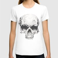 Skul Womens Fitted Tee White SMALL