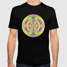 Psychedelic Target Rings Mens Fitted Tee Black SMALL