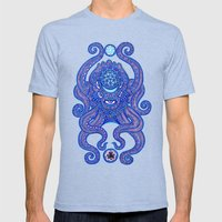 Octopus Mens Fitted Tee Tri-Blue SMALL