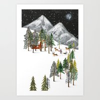 Winter Adventure Art Print