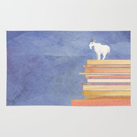 Goat On A Cliff Rug
