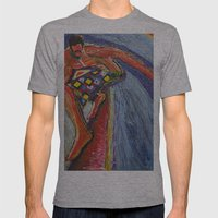 The Tom Sellecka Mens Fitted Tee Athletic Grey SMALL