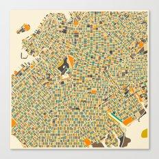 Brooklyn Map Canvas Print