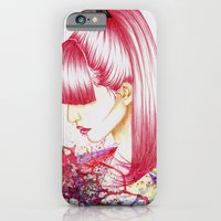 iPhone & iPod Case featuring Red hair don't care by Priscilla Agoe