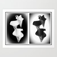 Calla Lillies. Black + … Art Print