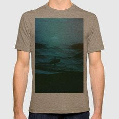 Night Surfer Mens Fitted Tee Tri-Coffee SMALL