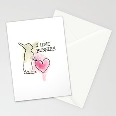 I LOVE BUNNIES Stationery Cards