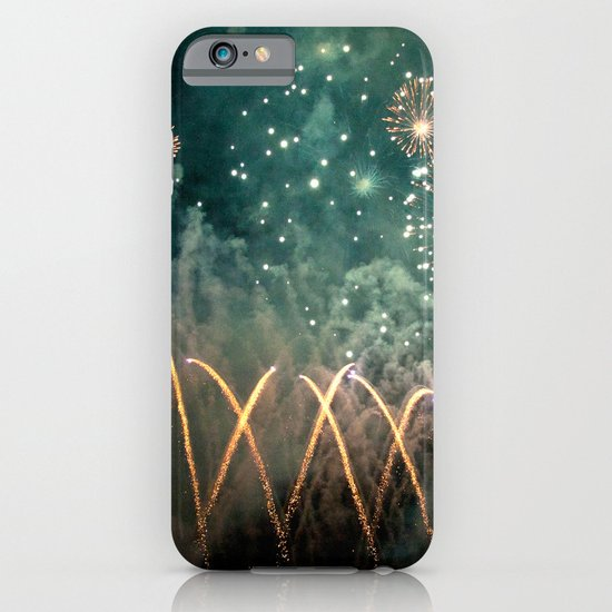 Fireworks Face iPhone & iPod Case