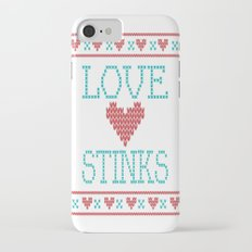 Love Stinks Cross Stitch iPhone 7 Slim Case